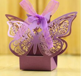 Romantic Hollow Out Butterfly Wedding Gift Box Elegant Luxury Decoration  Laser Cut Party Sweet Favors Guest Gift Wedding Paper Candy Boxs