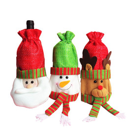 $enCountryForm.capitalKeyWord NZ - Christmas Decorations Santa Claus   Snowman   Deer Red Wine Bottle Bags New Year Party Dining Table Supplies