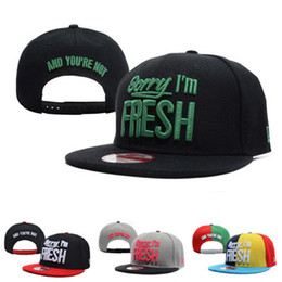 f750c94e3ff Sorry I m Fresh Snapback Caps   Hats Snapbacks Snap Back Hat Men Women  Baseball Cap Hot Cheap Sale