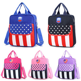 Backpack flag print online shopping - Waterproof CM Printing Star Stripes Flag boy gift Bags Children Boys Girls School Bag Girls Backpack Boys School bag