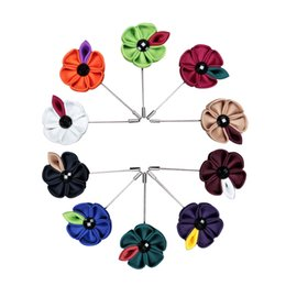 China Free shopping Classic handmade weaving sunflower corsage, suit accessories exquisite men brooch, handmade accessories suppliers