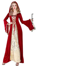 Gothic Woman Costumes UK - xingfu2014 VASHEJIANG Renaissance Gothic Princess Costume Adult Fantasia Cosplay Halloween Witch Costumes for Women Fancy Party Dress Outft
