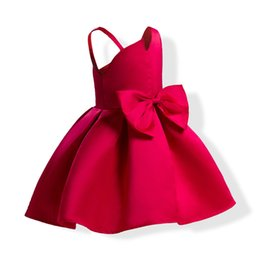 Chinese  Baby Girls Princess Dresses Children Suspenders Strapless Ball Gown Dress Skirt With Bow New Kids Clothing Free DHL 427 manufacturers