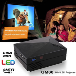 Discount stockings av - GM60 Mini Portable LED Projector 1000Lumens FULL HD 1080P USB VGA AV SD For Video Games TV LCD Home Theater Proyector Ci
