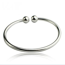 Handcuffs silver bracelets online shopping - Charm Bracelets for Women Men Women s Silver Plated Bracelet Simple Style Open Handcuff Garlic Bangle Cuff Bracelets Bangles