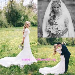 Mermaid Style Wedding Dresses Cap Sleeves Canada