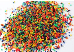Chinese  10000 pcs pack Mixed colors Magic Plant Crystal Soil Mud Water Beads Pearl ADS Jelly Crystal ball soil manufacturers