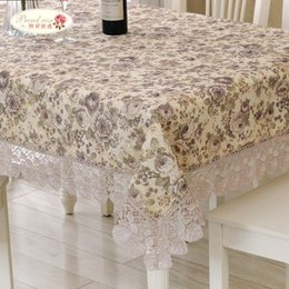 1 Piece Rural Printed Lace Tablecloth Tea Table Cloth Embroidered Tablecloth  With Flower Pattern Fashion Household Table Cloth Red Lace Tablecloths On  Sale