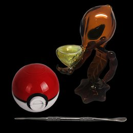 $enCountryForm.capitalKeyWord NZ - In Stock G Spot Alien Bong Glass Water Pipes Glass Smoking Pipes Glass Bubblers With Pokeball Grinder Tool