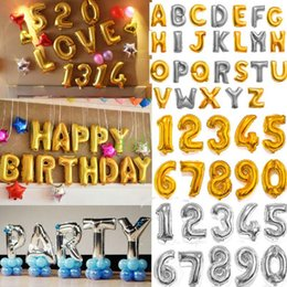 32 Inch Helium Air Balloon Number Letter Shaped Gold Silver Inflatable Ballons Birthday Wedding Decoration Event Party Supplies 2000 OOA2647 Affordable