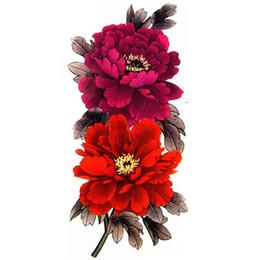 Chinese  4 Pcs pack Beautiful Peony Flowers Waterproof Large Temporary Tattoo Sticker For Women Jewelry Body Art manufacturers