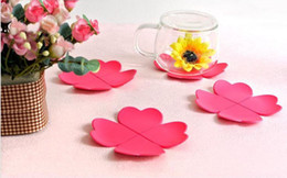 $enCountryForm.capitalKeyWord Canada - 5PCS silicone placemat cup coaster creative table mat flower shape for coffee and tea holder