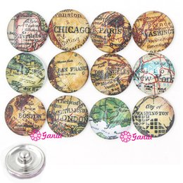 $enCountryForm.capitalKeyWord Canada - DIY Buttons 18mm Cabochon Glass Stone Buttons Vintage USA Map Button for Snap Jewelry Bracelet Necklace Ring Earrings