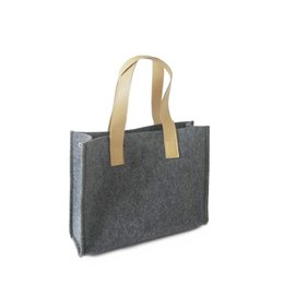 $enCountryForm.capitalKeyWord Canada - Women's felt Shopping bags Handbags Tote Shoulder bags Large Capacity Weave Messenger Bags Fashion Designer Free Shipping