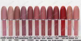 Brilho Lipgloss Retro Fosco Marca Lipgloss Esmalte Lipgloss 12 Cores Diferentes Com Nome Em Inglês 4.5g 12 Pcs