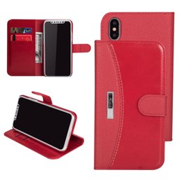 Stitch Wallet Australia - Luxury Retro Hybrid Stitching Wallet PU Leather Flip Stand Case With Card Slots For iPhone X 8 7 6 6S Samsung Galaxy S8 Plus Note Note8
