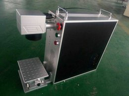 Laptop ile 20 W taşınabilir metal fiber lazer markalama makinesi