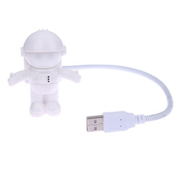 Discount new pc gadgets - New Astronaut Spaceman USB LED Adjustable Night Light USB Gadgets For Computer PC Lamp