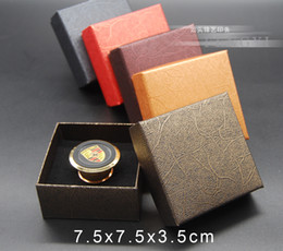 studs boxed Australia - Jewelry Storage Paper Boxes Bracelet Necklace Ring Ear Stud Earring Packaging Gift Box For Jewelry With Sponge