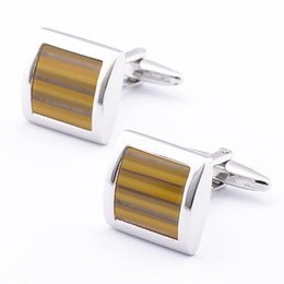 Mens Shirt Material Canada - Jewelry shirt cufflinks for mens brand shell material cuff botton high quality silver cuff links luxury wedding gift 990014