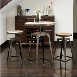 Exceptional American Retro To Do The Old Wrought Iron Bar High Chairs Leisure And Coffee  Tables
