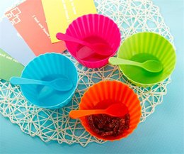 $enCountryForm.capitalKeyWord NZ - Wholesale Ice Cream Bowls With Spoons Salad Bowls Mask Bowls 4 Color Cute Durable Dessert Cup For Kids Free Shipping (7)