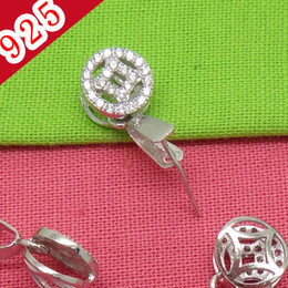 Pendant Pinch NZ - Wholesale-Min 5piece,925 Sterling Silver Platinum Plated Pinch Bail Clasps for diy Pendant Jewelry Making