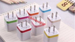 Ac Wall Charger Adapter NZ - 10pcs free shipping USA Double USB AC Adapter 5V 1A AC Power Charger Wall Socket Travel Portable US Plug for For Samsung huawei cell phone