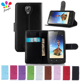 Flip Phone Cases NZ - Wholesale-Luxury Wallet PU Leather Case Cover For Lenovo A1000 Case Flip Phone Case Back Cover For Lenovo A 1000 With Card Holder Stand