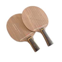 Wholesale Table tennis racket bottom board layers of pure wood table tennis bat walnut surface material fast attack arc ring type