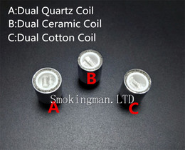 ceramic dual rod wax NZ - Newest wax coils Dual Quartz Coils Dual Ceramic Rod Coils for Cannon Vase Atomizer Glass Globe Atomizer VS Skillet quartz atomizer