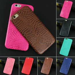 Discount snake cases - Wholesale-For iphone 6 6s Case Luxury Crocodile Snake Print Leather Case Back Cover for iphone 6 6s 6 Plus 5 5S SE Phone