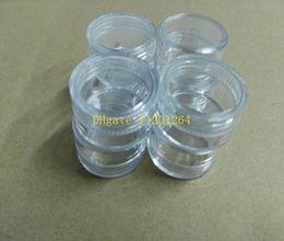 Discount plastic jars 5ml - 120pcs lot Free Shipping 5g clear Empty jar ,5ml plastic Box Packaging nail bottle cream pot ,Nail art glitter powder ca