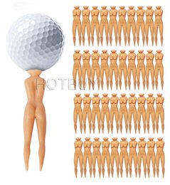 Nus En Forme Sexy Pas Cher-Sexy Shape Girl Golf Tee Novelty Joke Nude Golf Tees Nude Lady Golf Tees # 4190