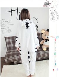 Barato Onesie Do Tigre Dos Adultos-New Anime Animal tigre branco Cosplay pijama Adulto Cosp Unisex Carnival Halloween Onesie Tiger Jumpsuit