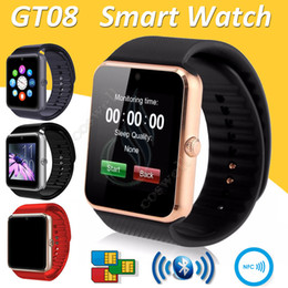 Smart Watch Iphone Android Canada - GT08 Smart Watch Bluetooth 6261D IC SIM Card Slot NFC Health Watchs Wear Android Samsung IOS Apple iphone Smartphone Bracelet Smartwatch DHL