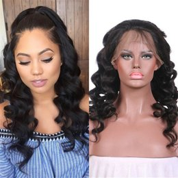 lace front wig human hair 28 Australia - Lace Front Human Hair Wigs With Baby Hair Pre Plucked Brazilian Loose Wave Lace Wig FDSHINE HAIR