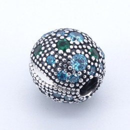 China Cosmic Stars, Multi-Colored Crystals & Teal CZ Clip 2017 Summer 925 Sterling Silver Bead Fit Pandora Bracelet Authentic Charm suppliers