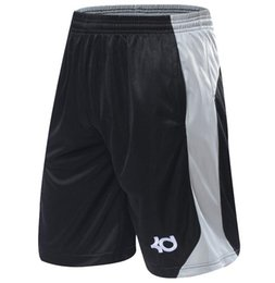 Barato Bolso Elástico Para Correr-NOVO 2016 Marca Athletic KD Shorts de ginástica Desporto Correndo Comprimento do joelho Elastic Loose Pocket Basketball Shorts Plus Size XL-4XL HOT