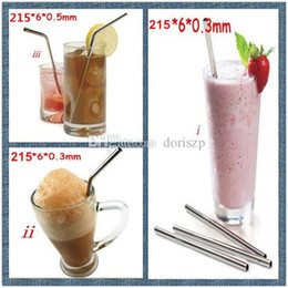 Steel Bar Bend Canada - straight stainless steel straws Eco-friendly drinking straws practical beer tool bend drinking straw for party gift Bar kitchen barware