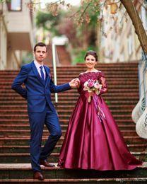 $enCountryForm.capitalKeyWord Canada - 2019 Free Shipping Formal Prom Dresses vestidos de Noiva A Line Boat Neck Appliques Beading Evening Gowns