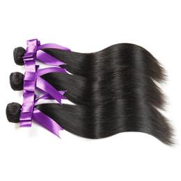 lula human hair 2019 - Peruvian Hair Straight 3pcs lot Natural Black Human Hair Weave Bundles Ms Lula Peruvian Straight Hair Weaves 3pcs lot di