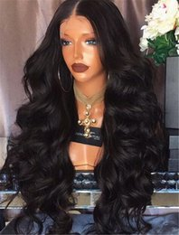 $enCountryForm.capitalKeyWord NZ - Best brazilian long wave Black Virgin Hair Glueless Full Lace Wigs Lace Front Wig with Bleached Knots for black women