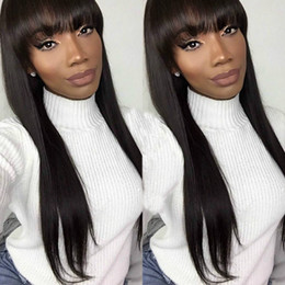 Real Hair Wigs For Indian Women Canada - Brazilian Natural Straight Human Hair For Black Women Cheap Real Human Hair Lace Front Wigs Human Hair Wigs