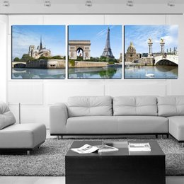 $enCountryForm.capitalKeyWord Australia - Unframed 3 Pieces picture free shipping Canvas Prints Eiffel Tower Triumphal Arch flower Abstract tree paper-cut sandy beach shell Big Ben