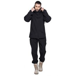 $enCountryForm.capitalKeyWord UK - Shanghai Story TAD Man Waterproof Hunting Fishing Camping Camouflage Jacket Suit Army Set Military Hood Softshell Jacket+ Pants