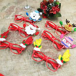 Discount glasses without lens - 2016 Children's Christmas present Santa Claus snowman etc without lens glass Christmas party supplies decorations C