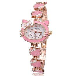 $enCountryForm.capitalKeyWord UK - Hot sell Brand Hello Kitty Cartoon watches Women kids hellokitty watches cute girls designer children Quartz WristWatch