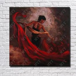oil paints beautiful girls UK - Beautiful Girl Pictures Nice Wall Painting Living Room Wall Decor Modern Canvas Art Hand pained By Artist