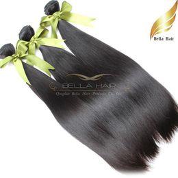 "virgin hair 3pc bundles 2019 - Malaysian Virgin Human Hair Extensions Silky Straight Hair Bundles Wefts 8A 3pc lot Natural Black 8""-30"" Drop"